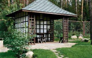 Беседка с четырехскатной крышей: фото + чертежи