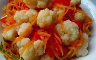 Как приготовить цветную капусту, маринованную по-корейски?