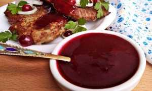 Брусничный соус к мясу – 6 рецептов