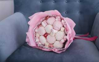 Букет из маршмэллоу и зефира — оригинальный и вкусный подарок