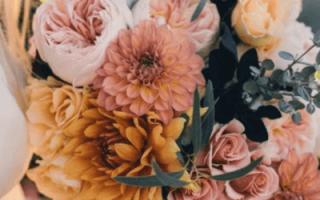 Восточный символ Солнца: как создается женственный букет невесты из хризантем