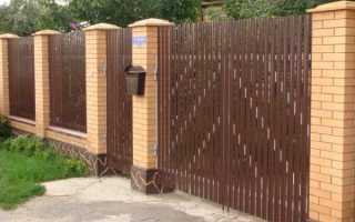 Забор из евроштакетника: плюсы и минусы, установка, фото, видео