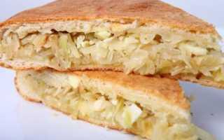 Вкусный пирог с капустой в духовке. Заливной пирог. Пошаговый рецепт с фото